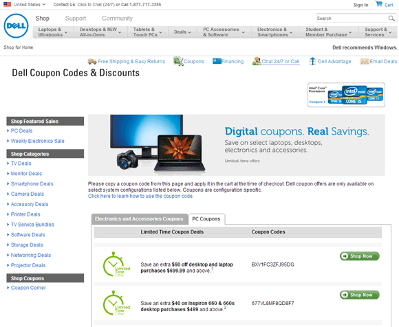 Dell discount coupons canada