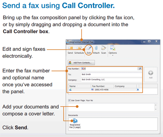utbox how to send a fax