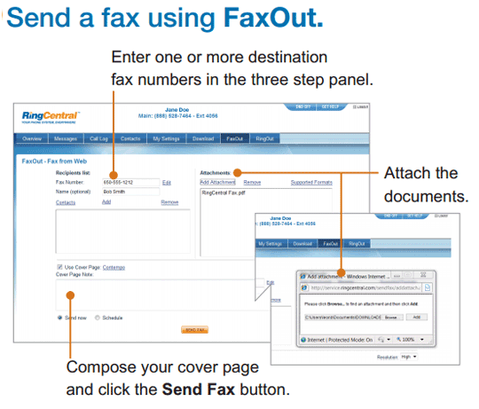 Using FaxOut