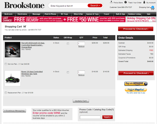 Brookstone Website and Using a Brookstone Promo Code